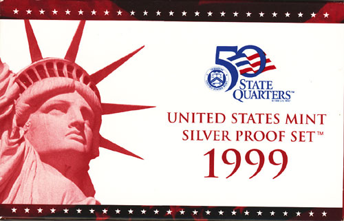 1999 Silver Proof Set Box
