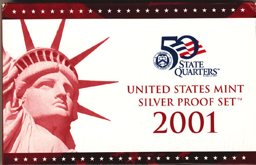 2001 Silver Proof Set Box
