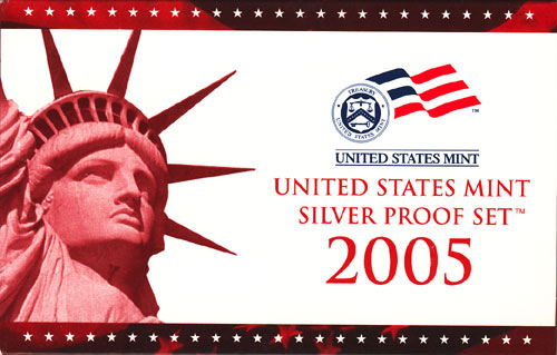 2005 Silver Proof Set Box