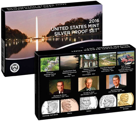 2010 Silver Proof Set packaging