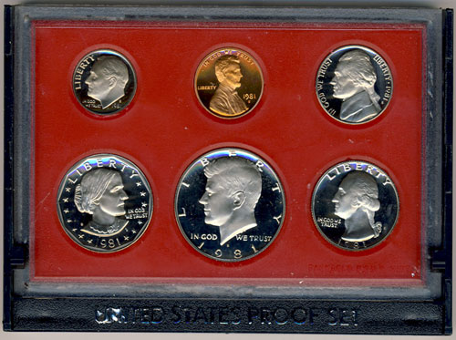1981-S LINCOLN MEMORIAL CENT FROM PROOF SET L@@K   B-1-19
