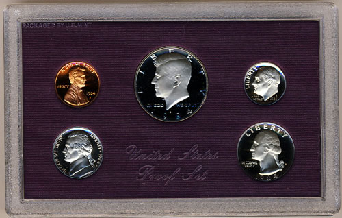 1982 United States Five Coin Proof Set