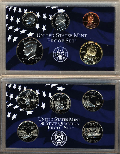 2000S PROOF SET   10 COIN SET  UNITED STATES MINT PROOF SET
