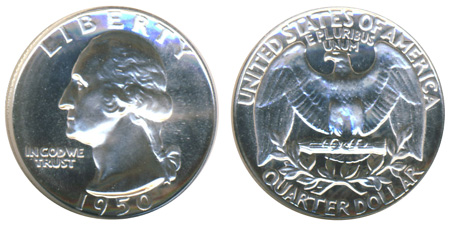 1956 Franklin Mint Proof Half Dollar from Proof Set in Mint Cellophane